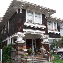 510 B Street. Built in 1913. Craftsman style. Historic name: Jacobs House. the house was built by Mr. Jacobs for his family. Mr. Jacobs owned an electrical store on B Street and was a prominent member of the Elks club. Their daughter, Hati, donated the bells at Santa Rosa Junior College.