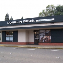 505 B Street. Conklin Bros. Flooring. Building acquired by Sonoma County Museum for future expansion.