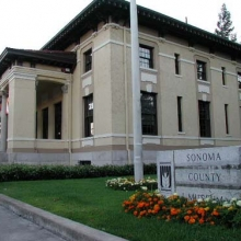 Santa Rosa Museum. Originally, Santa Rosa's post office.  Built in 1909. Style: Roman Renaissance Revival. Designed by James Knox Taylor, Architect for the Treasury Department in Washington D.C. Sold to the County of Sonoma in 1967. Moved  from 5th Street downtown to present location in the 1979.