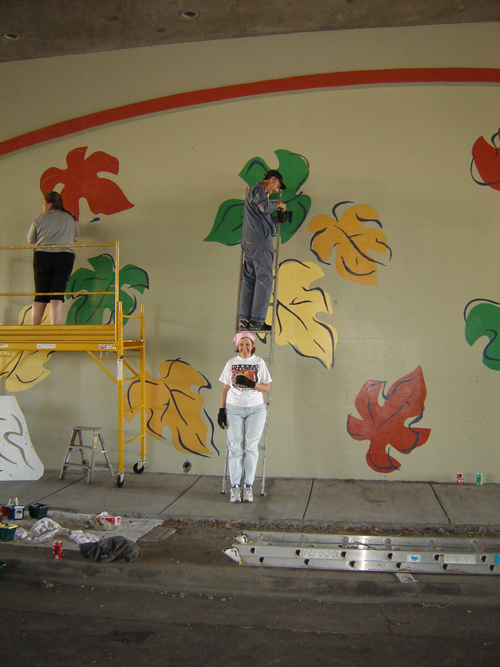 St rose historic district for Mural joe painting