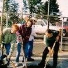 Planting Street Trees with Mayor Jane Bender -2003
