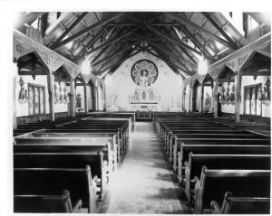 St. Rose Church interior 1944