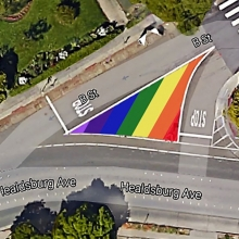 2018 - Rainbow Flag in Traffic Triangle