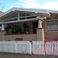 700 Morgan Street. Built between 1915-1923. Style: Craftsman Bungalow. Historic name: George and Margaret Schultz House.