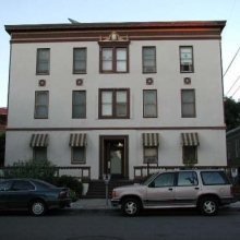 "526 B Street. Built: 1922. Style:  Mediterranean Revival. Historic name: ""Rosemont Apartments""."