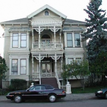 625 B Street. Built between 1885-1888: Style: Stick Eastlake. Historic name: Cornelius Shea House. In the 1950's Bob Trowbridge purchased the house for $1 when it was going to be torn down for a drive-in restaurant. He then moved it from 537 Mendocino Avenue  to its current location.