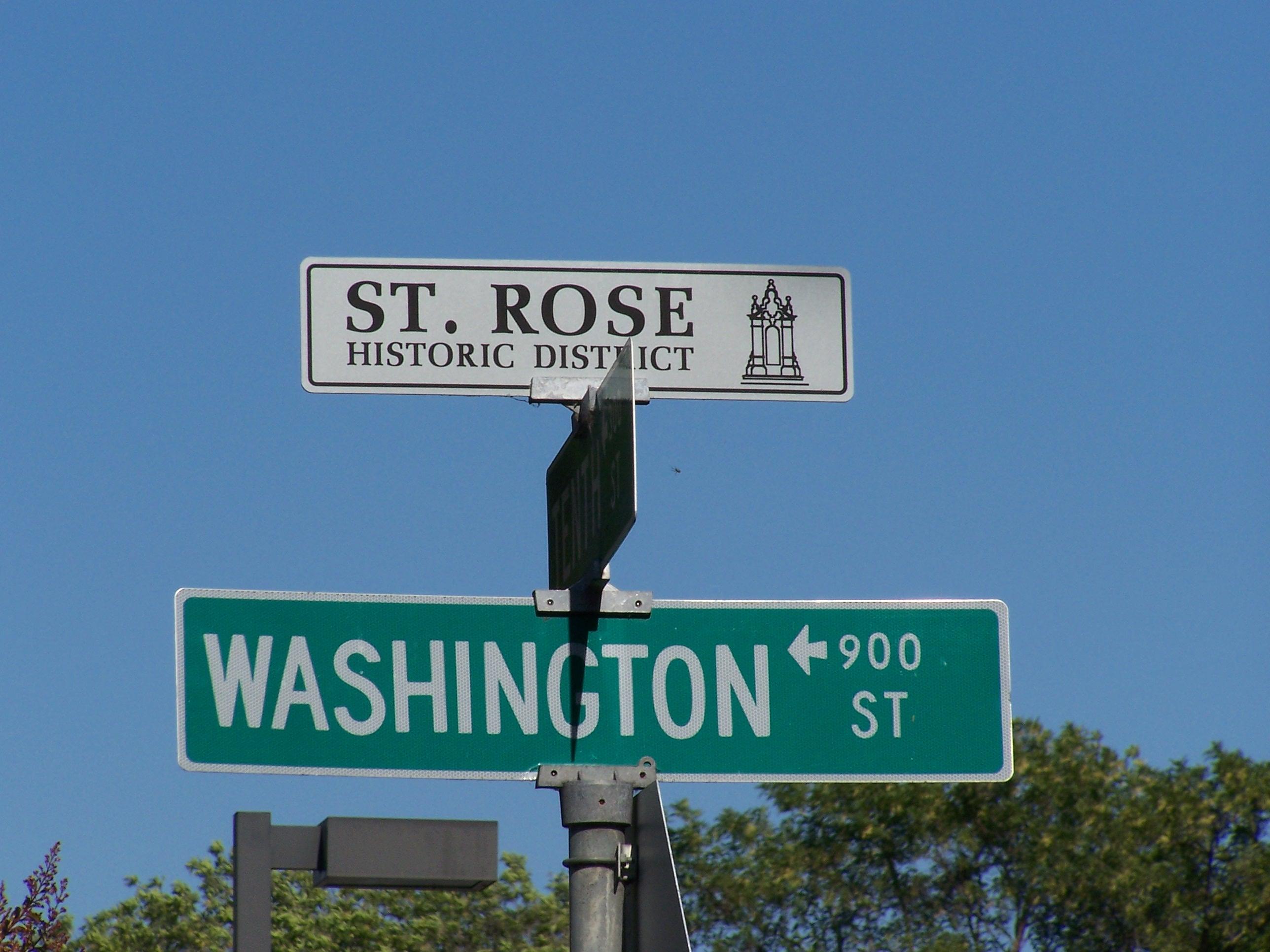 St. Rose Preservation District Sign