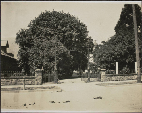 Ursuline College Entrance on B Street -