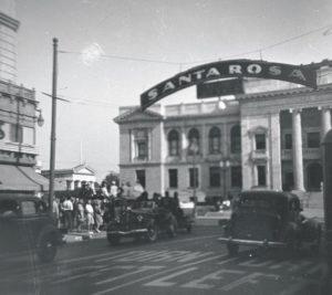 Santa Rosa Sign circa 1940