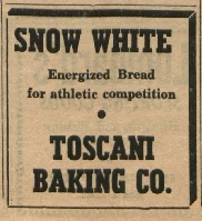 Toscani Baking Co. ad in SRJC Oakleaf