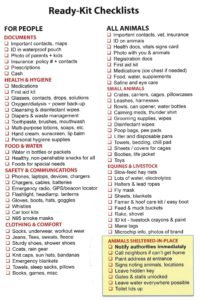 Emergency Preparedness for People and Pets