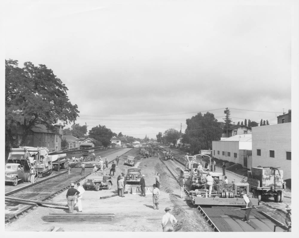 Hwy 101 being built - late 1940s